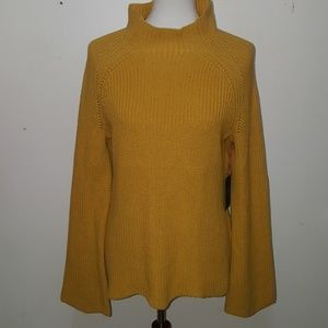 Cynthia Rowley yellow sweater pullover size L